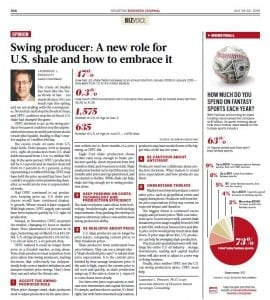 Swing Producer- A new role for U.S. shale and how to embrace it