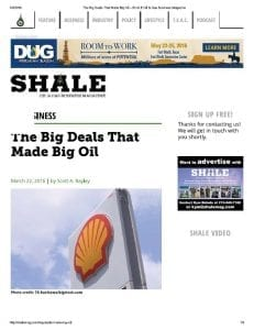The Big Deals That Made Big Oil - SHALE Oil and Gas Business Magazine