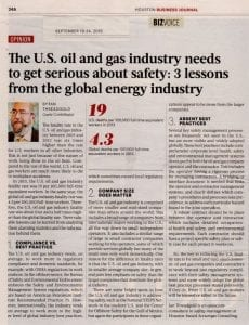 The U.S. oil and gas industry needs to get serious about safety- 3 lessons from the global energy industry