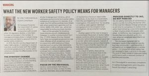 What the new worker safety policy means for managers